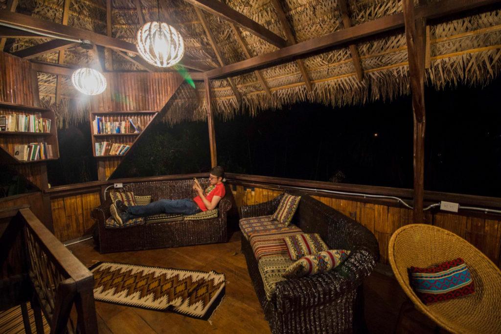 Chilling at a the most unique amazon lodge in Ecuador
