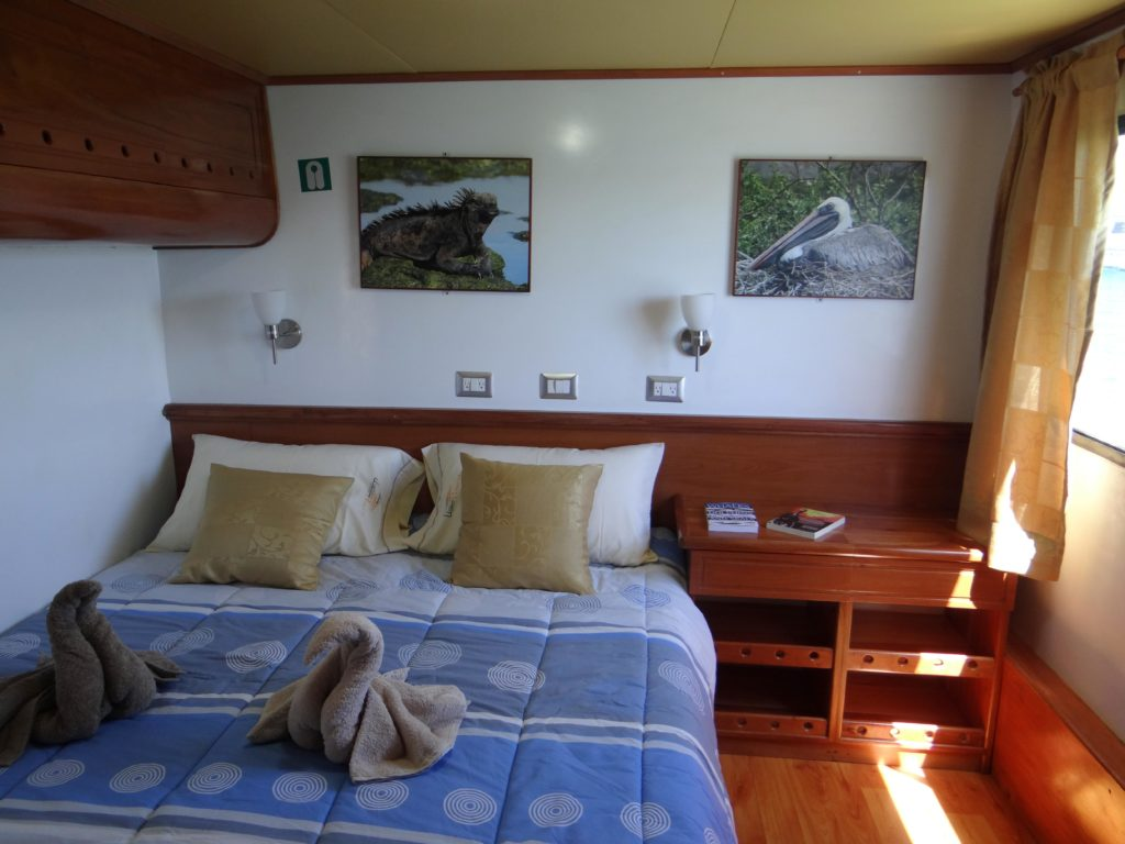 Matrimonial cabin on the best budget friendly Galapagos cruise