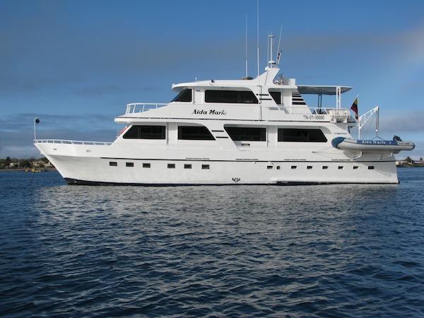 Aida Maria a comfortable Galapagos yacht