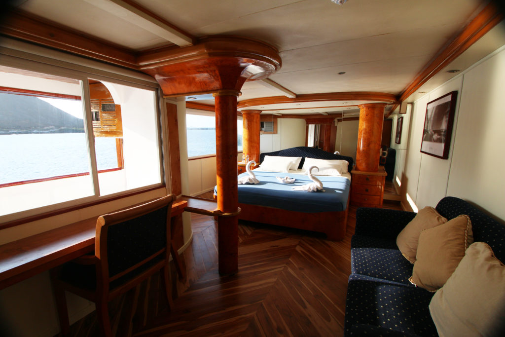 Suite aboard the Millennium the best Galapagos Last minute deals