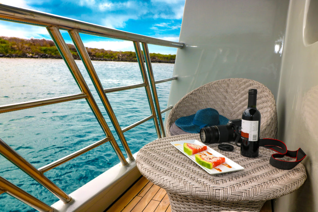 Beautiful Private Balcony onboard Camila the Finest Galapagos Luxury Experience