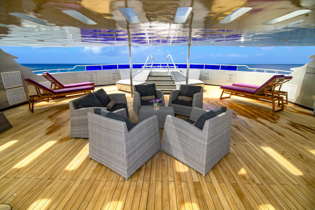 Well-equipped Sundeck onboard Camila Luxury Trimaran