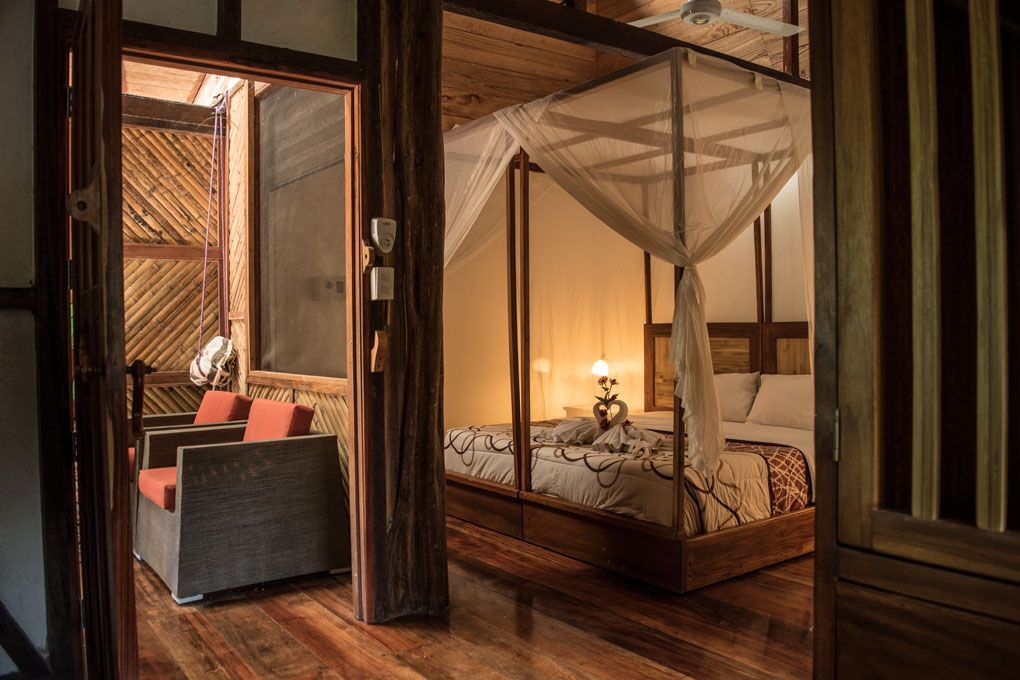Spacious cabins at the Napo Cultural Center