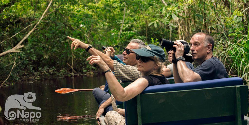 Canoe paddling at the Napo Wildlife Center