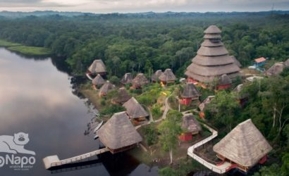 Aerial view of the Napo Wildlife Center and its main tower