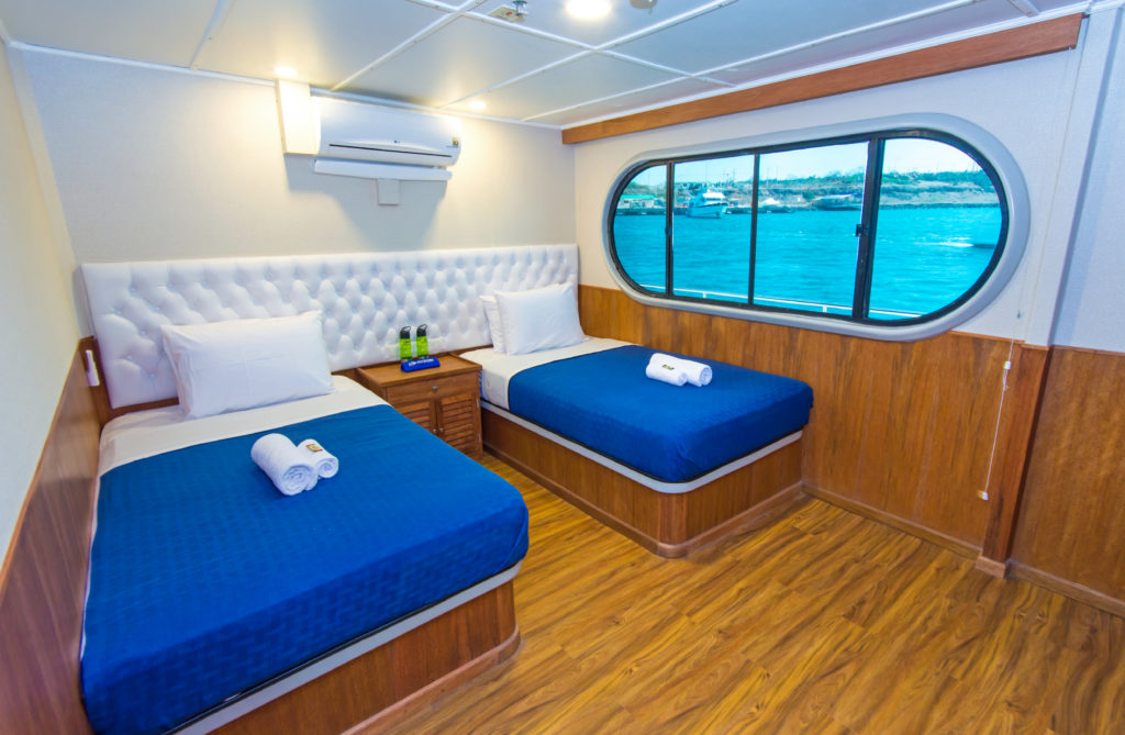 Big windows onboard the best 5 Day Galapagos Cruise