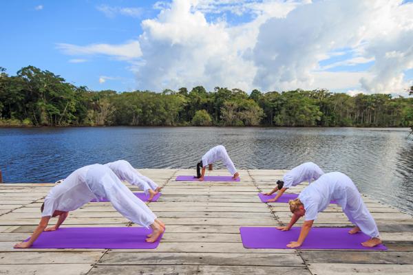 Yoga at the premier jungle lodge in Ecuador