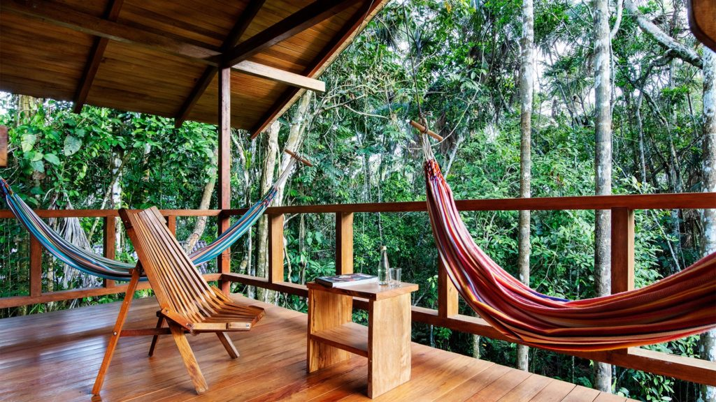 Enjoy a private balcony when you visit the Amazon