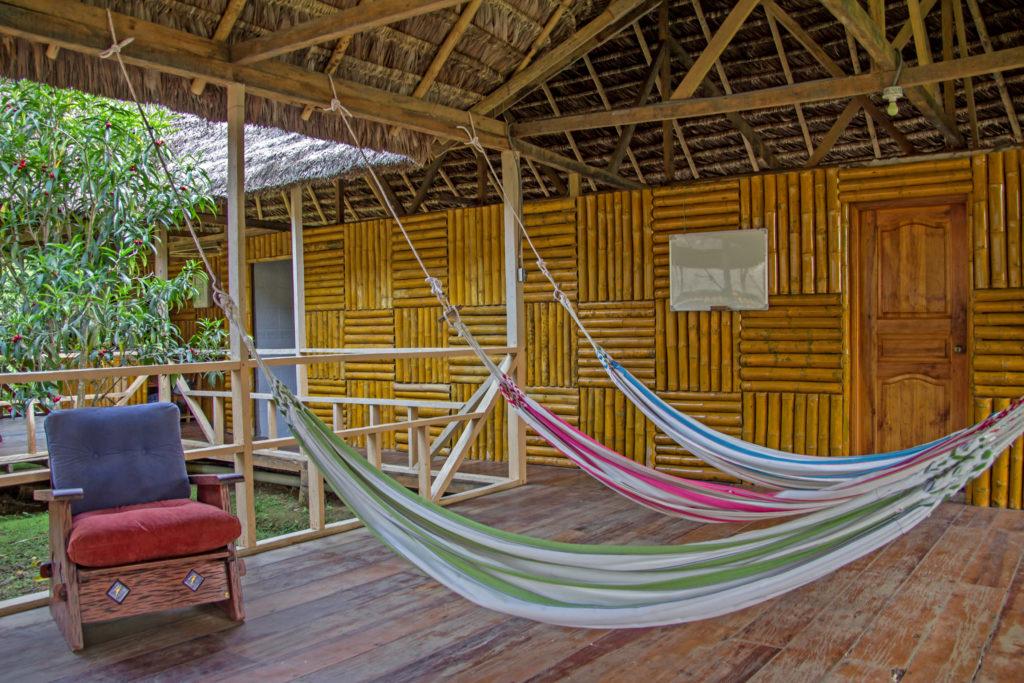 Hammocks at the Amazon Dolphin Lodge