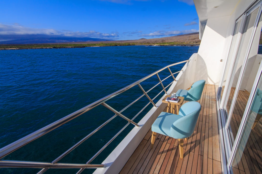 Beautiful French style balconies make the Endemic the Best Galapagos Luxury Expedition