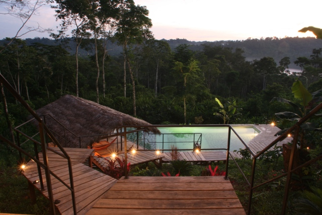 Eco Pool on a 3 day Amazon tour from Quito