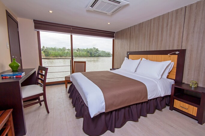Matrimonial Suite at a luxury Amazon river cruise