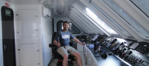 On board the M/C Alya