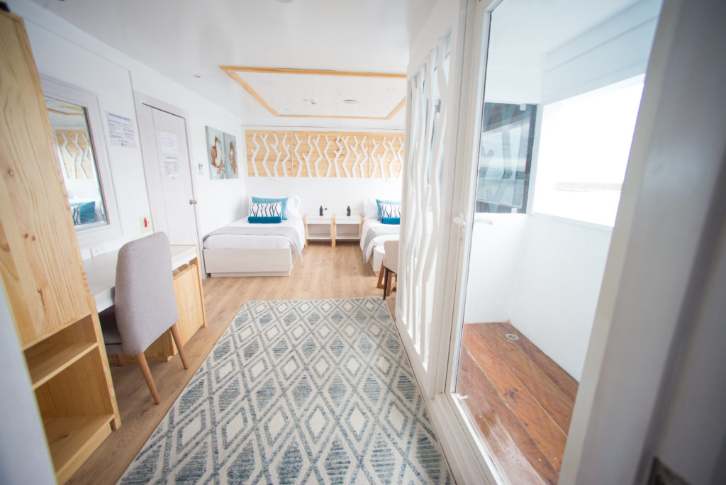 Beautiful suites onboard the perfect Galapagos First-Class cruise