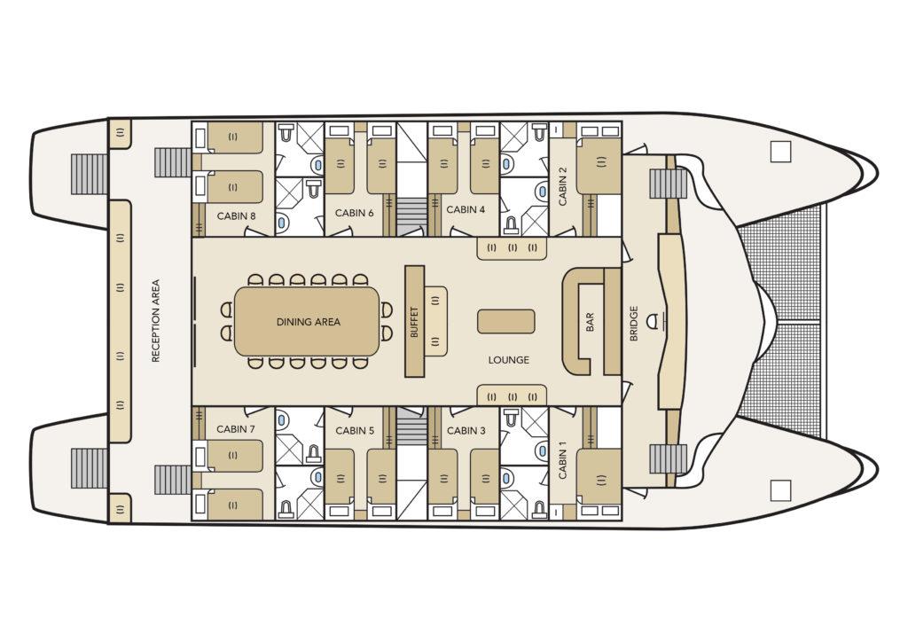 Archipel II Main Deck Plan