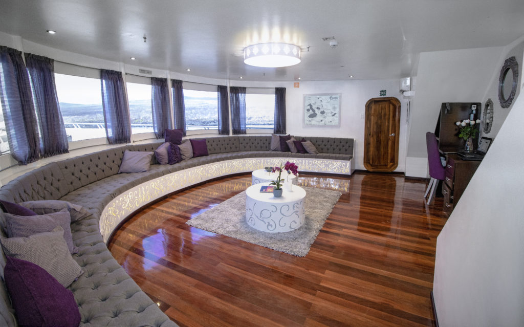 Beautiful and luxurious lounge area Camila Trimaran