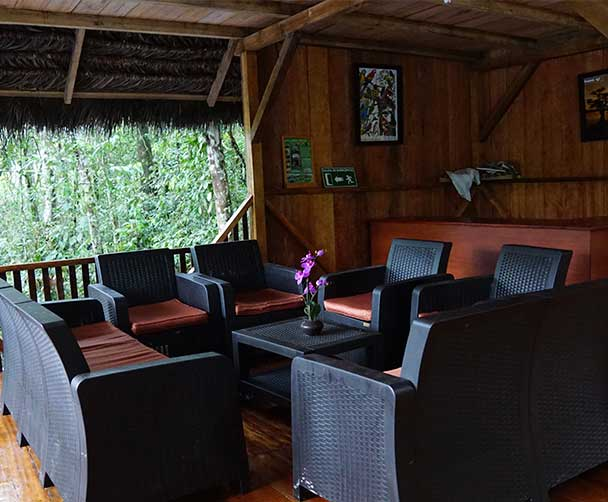 Caiman Lodge Lounge area
