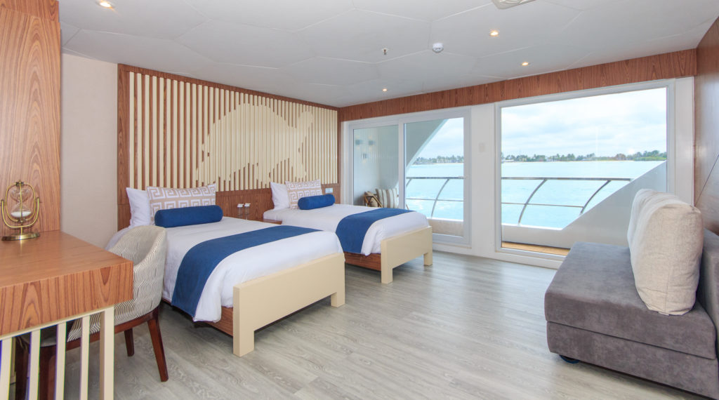 Twin Suite onboard the Elite Galapagos Luxury Expedition