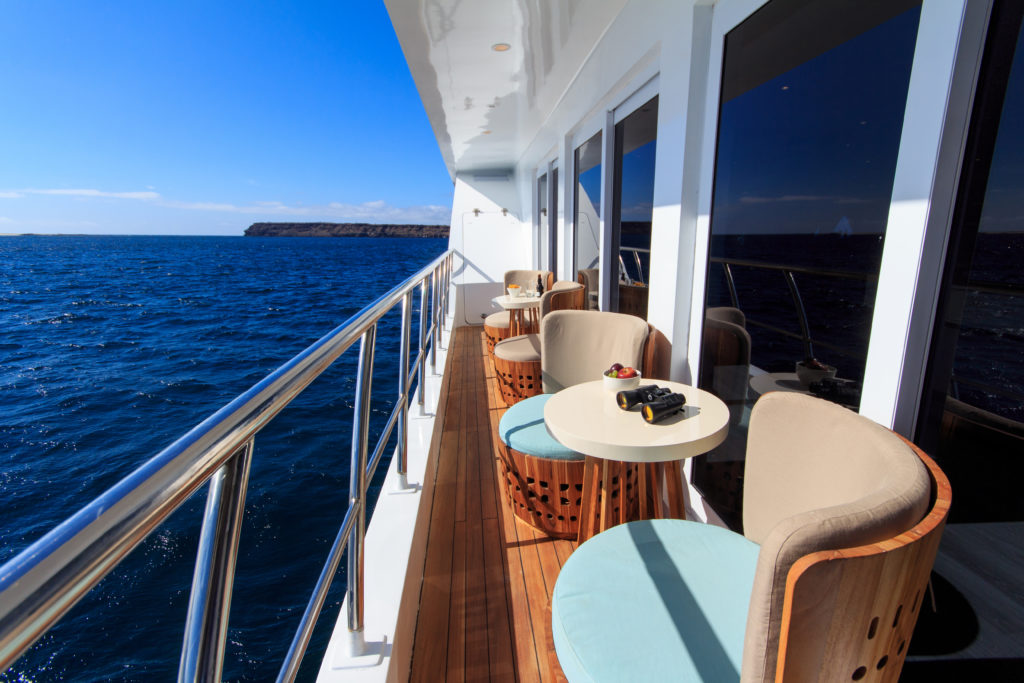 Social balcony only found on the Elite Galapagos Luxury Expedition