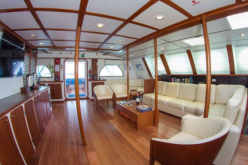 Onboard the First Class Galapagos Catamaran