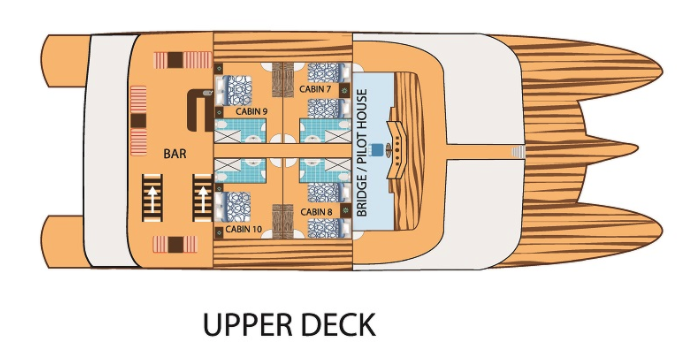 Tip Top II Upper Deck Plan