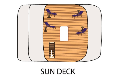 Tip Top II Sun Deck Plan