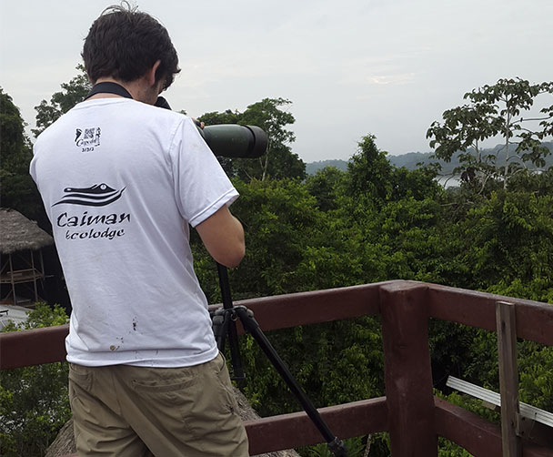 Observation Tower at the best budget amazon lodge in Ecuador